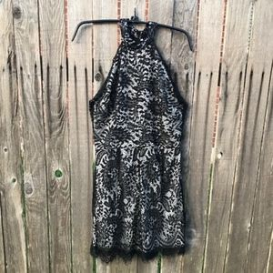 Pants - NWOT Black Lace Romper Size L